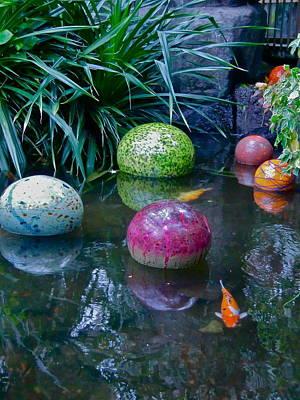 Koi Pond Fantasy Art Print by Richard Mansfield