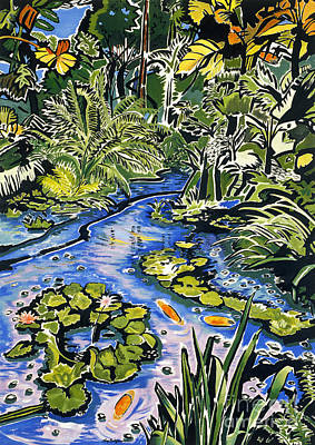 Painting - Koi Pond by Fay Biegun - Printscapes