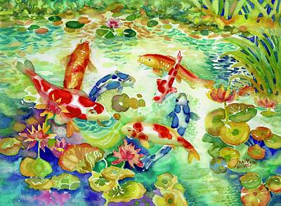 Painting - Koi Pond I by Ann Nicholson