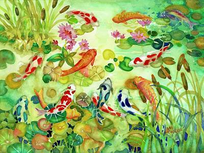 Painting - Koi Pond II by Ann Nicholson