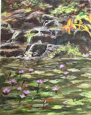 Painting - Koi Pond In Hawaii by Charme Curtin