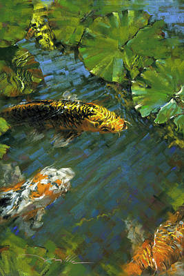Painting - Koi Pond by Mark Mille