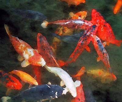 Painting - Koi Pond by Mark Taylor