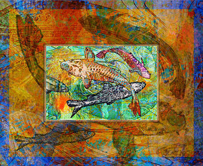 Koi Pond Art Print by Mary Ogle