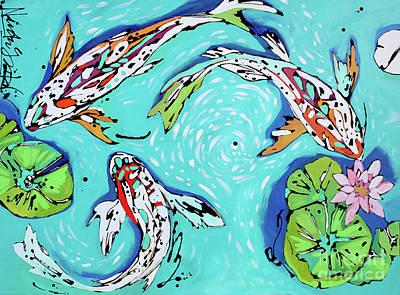 Painting - Koi Pond by Nicole Gaitan