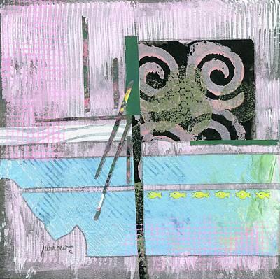 Mixed Media - Koi Pond by Sue Furrow