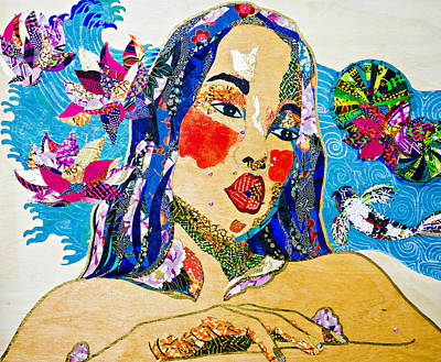 Tapestry - Textile - Koi Princess by Apanaki Temitayo M