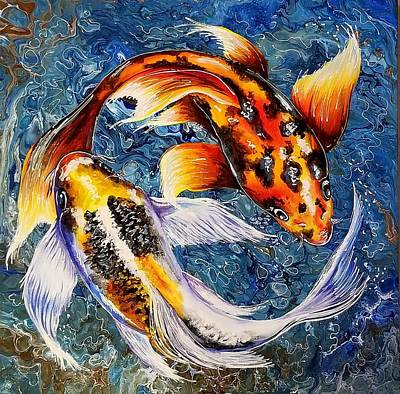 Painting - Koi Realm by Sandra Lett