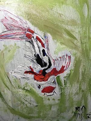 Painting - Koi  by Richard Dalton
