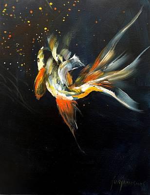 Painting - Koi Series 1 by Jun Jamosmos