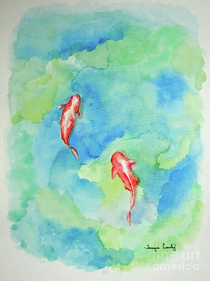 Painting - Koi Summer by Tamyra Crossley