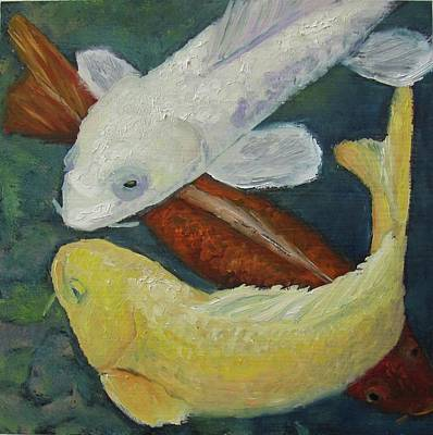Painting - Koi by Susan  Spohn