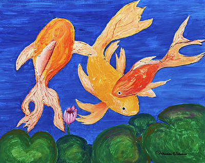 Painting - Koi Tales by Patricia Beebe