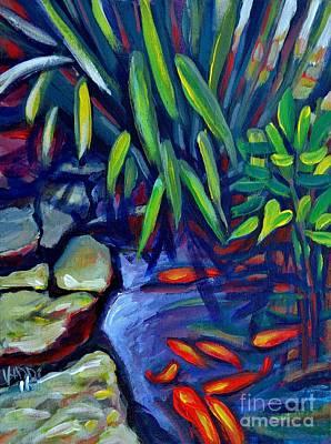 Koi Pond Original by Vanessa Hadady BFA MA