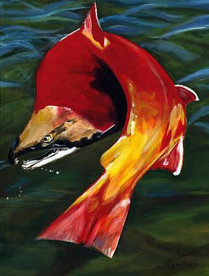 Painting - Kokanee by Sara Stevenson