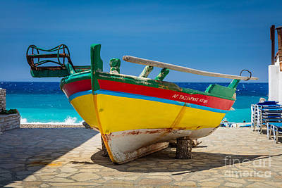 Photograph - Kokkari Boat by Inge Johnsson