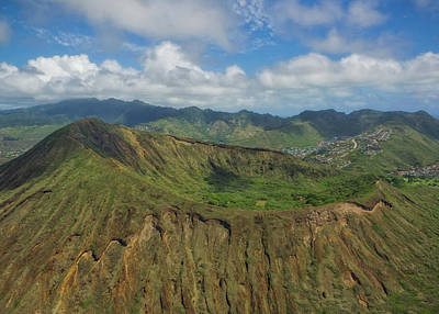 Wall Art - Photograph - Koko Head Crater Helicopter View by Martin Belan