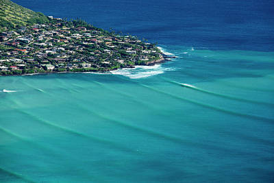 Helicopter Photograph - Koko Head Pastels by Sean Davey