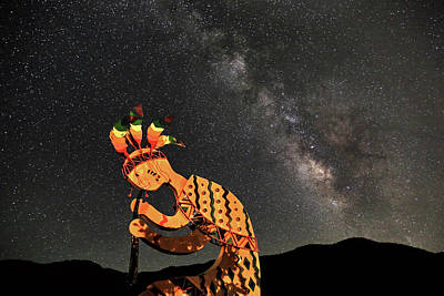 Kokopelli And The Milky Way Art Print
