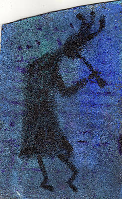 Kokopeli Painting - Kokopeli Blues by Wayne Potrafka