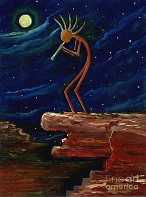 Folkartanna Painting - Kokopelli by Anna Folkartanna Maciejewska-Dyba