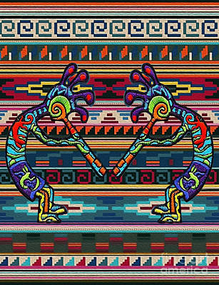 Digital Art - Kokopelli Art by Walter Colvin