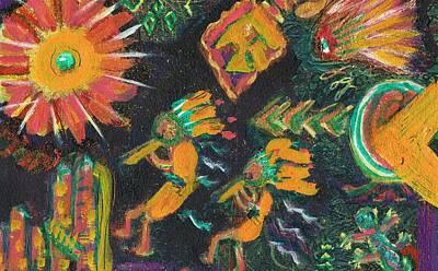 Kokopelli Buddies Dancing Original