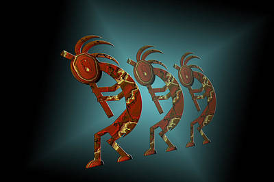 Kokopelli Art Print by Carol and Mike Werner