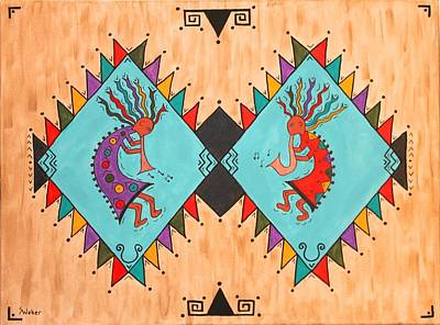 Painting - Kokopelli Jammin by Susie WEBER