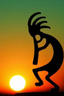 Kokopelli Art Print by Mitch Cat