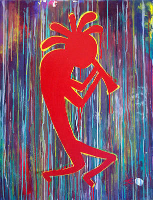 Kokopelli  Art Print by Tommy Reynolds