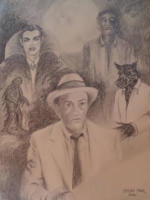 Darren Drawing - Kolchak, The Night Stalker by Galen Foor