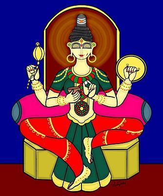 Painting - Kolhapuri Lakshmi by Pratyasha Nithin