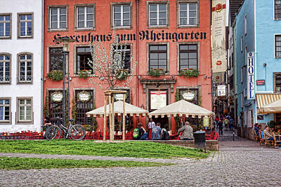 Photograph - Sidewalk Cafe In Cologne, Germany by Tatiana Travelways