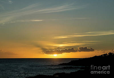 Photograph - Koloa Sunset 7709 by Chuck Flewelling