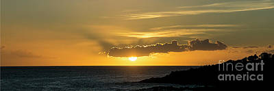 Photograph - Koloa Sunset 7709 Pano by Chuck Flewelling