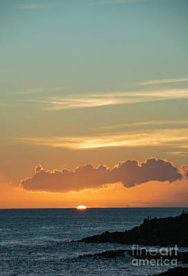Photograph - Koloa Sunset 7719 by Chuck Flewelling