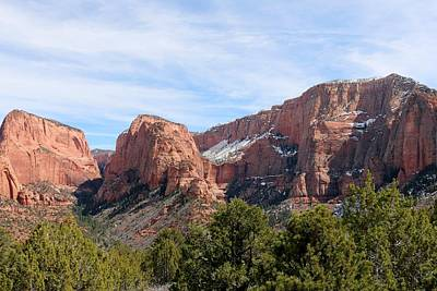 Photograph - Kolob Canyon Dusted With Snow - 2 by Christy Pooschke