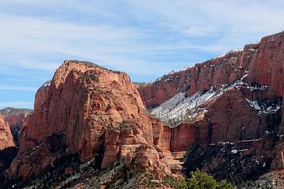 Photograph - Kolob Canyon Dusted With Snow - 3 by Christy Pooschke