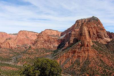 Photograph - Kolob Canyon Dusted With Snow - 5 by Christy Pooschke