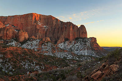 Photograph - Kolob Canyon Sunset by Johnny Adolphson