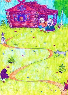 Greeting Card - Kolobok by Rae Chichilnitsky