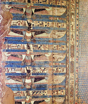 Photograph - Kom Ombo Ceiling Painting by Debbie Oppermann