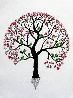 Tree Roots Painting - Komal Vriksh by Sumit Mehndiratta