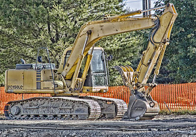 Photograph - Komatsu Excavator by Richard Bean