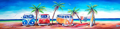 Bus Painting - Kombi Club by Deb Broughton