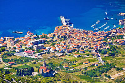 Photograph - Komiza On Vis Island Aerial View by Brch Photography