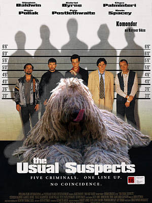 Painting - Komondor Art Canvas Print - The Usual Suspects Movie Poster by Sandra Sij