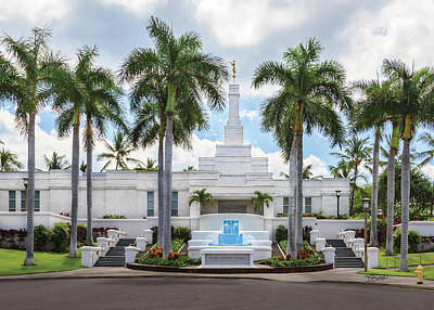 Photograph - Kona Hawaii Temple-day by Denise Bird