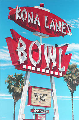 Costa Painting - Kona Lanes by Michael Ward